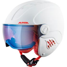 Alpina Carat LE Visor HM Helmet Kids white-flame matt
